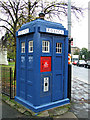 NS6065 : Cathedral Square police box by Thomas Nugent