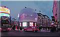TQ2980 : Vandal-proof snow globe, Piccadilly by Julian Osley
