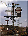 J4582 : Sykes banner signal - Helen's Bay station by The Carlisle Kid