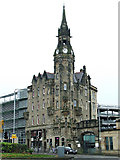 NS6065 : Glasgow Royal Infirmary Clock Tower Block by Thomas Nugent