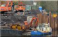 "J3371 : The ""Slemish"", River Lagan, Belfast (2) by Albert Bridge"