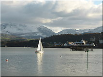 SH5873 : Looking across to Bangor Pier from the Gazelle Hotel slipway by David Medcalf