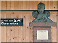 NY0565 : A Sir Peter Scott bust at Caerlaverock Wetland Centre by Walter Baxter