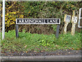 TG2504 : Arminghall Lane sign by Adrian Cable