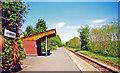 SN9347 : Llangammarch station, 2001 by Ben Brooksbank