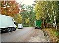 TL9387 : Breckland lorry park by Antony Dixon