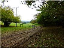 SU8216 : Footpath descends towards Monkton Farm by Shazz