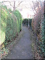 SE1645 : Footpath - Sandholme Drive by Betty Longbottom