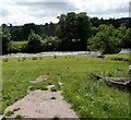 SO1919 : River Usk glimpsed across the Glanusk Estate NW of Crickhowll by Jaggery