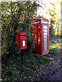TM2693 : Telephone Box & Church Road Postbox by Adrian Cable