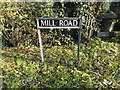 TM2693 : Mill Road sign by Geographer