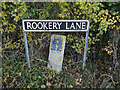 TM2693 : Rookery Lane sign by Adrian Cable