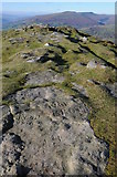 SO2718 : Graffiti etched in rocks on Sugar Loaf by Philip Halling