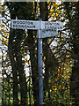 TM2692 : Roadsign on Low Road/Topcroft Street by Adrian Cable