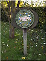 TM2691 : Topcroft Village sign by Adrian Cable