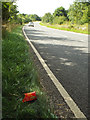 SP1472 : Someone had fries on the B4101 Spring Lane by Robin Stott