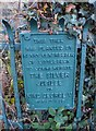 NZ8704 : Plaque on Jubilee tree in Littlebeck by Christopher Hall
