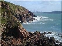 SM8003 : Rocky shoreline at Mill Bay by Gordon Hatton