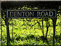 TM2691 : Denton Road sign by Adrian Cable
