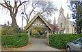 SU7405 : Lych Gate, St James' Church Emsworth by Paul Gillett