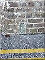 SN6296 : OS Flush Bracket S0346 - Penhelig railway bridge by Richard Law