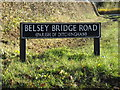 TM3292 : Belsey Bridge Road sign by Adrian Cable