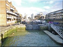 TQ3680 : Limehouse Lock by Mike Faherty