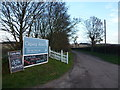 TF8539 : Signs on the road to Creake Abbey, Norfolk by Richard Humphrey