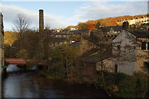 SD9927 : Hebden Water at Hebden Bridge by Bill Boaden