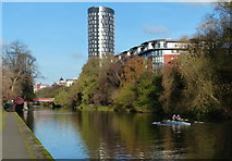 SK5803 : Rowing along the River Soar in Leicester by Mat Fascione