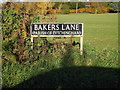 TM3392 : Bakers Lane sign by Adrian Cable
