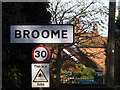 TM3490 : Broome Village Name sign by Adrian Cable