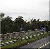 O0586 : North-bound slip road from the M1 at Junction 12 by Eric Jones