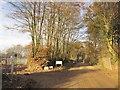SY3598 : Entrance to solar farm, Pound Lane by Derek Harper