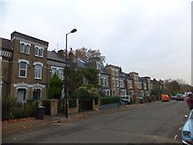 TQ2976 : An Englishman's home is his castle, Bromfelde Road by David Smith