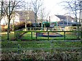 NZ2469 : Play area behind Willerby Drive by Oliver Dixon