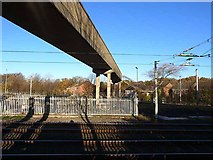 NZ2568 : Footbridge over the Tyne and Wear Metro by Oliver Dixon