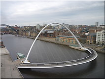 NZ2563 : Tyneside Townscape : The Millennium Bridge, Gateshead by Richard West