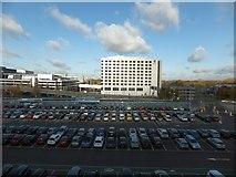 TQ2741 : Car park and the Sofitel hotel, Gatwick North by David Smith