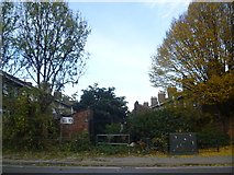 TQ2182 : Looking towards a back alley in Harlesden by Marathon