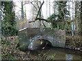 TF7614 : Humpback bridge over the River Nar near Narford Hall by Richard Humphrey