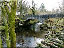 NY3204 : Bridge over Great Langdale Beck, Elterwater by Norman Caesar