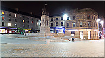NS4864 : Paisley war memorial at night by Thomas Nugent