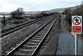 SN3906 : Towards a river bridge from Kidwelly railway station by Jaggery