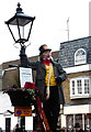 TQ7468 : Lamplighter entertaining the crowds in Rochester by pam fray