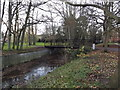 TM3877 : Footbridge over Town River in Town Park by Adrian Cable