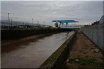 TA1031 : The River Hull towards Clough Road, Hull by Ian S