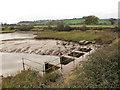 SX9685 : Sluice adjacent to Turf Lock by Stephen Craven