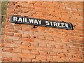 TQ7567 : Vintage street nameplate, Railway Street, Chatham by Chris Whippet