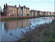 TF4509 : The tide is still rising - North Brink, Wisbech by Richard Humphrey